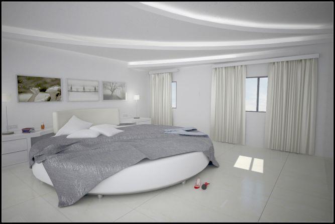עיצוב חדר שינה הכולל מיטה מפוארת וייחודית, סיגלית פרץ - אדריכלות ועיצוב פנים