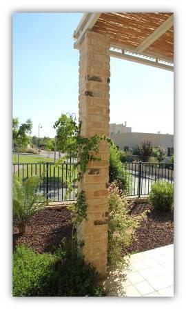 עמוד מחופה אבן-עיצוב סיגלית פרץ