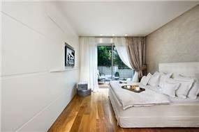 חדר שינה בדירה ברמת גן בעיצוב כנף ר. אדריכלים