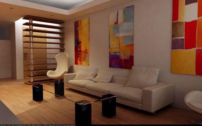 סלון בדירה בתל אביב בעיצוב האדריכל ארז גלבגיסר