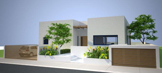 חזית בית בעין שריד בתכנון האדריכל ארז גלבגיסר