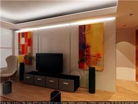סלון בעיצוב האדריכל ארז גלבגיסר