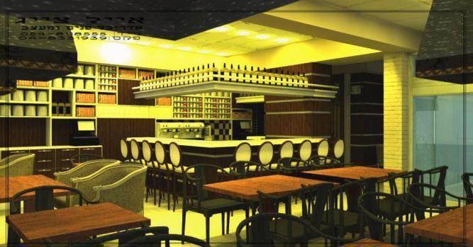 עיצוב מודרני לבית קפה בעפולה. אייל צייג - עיצוב פנים אדריכלי