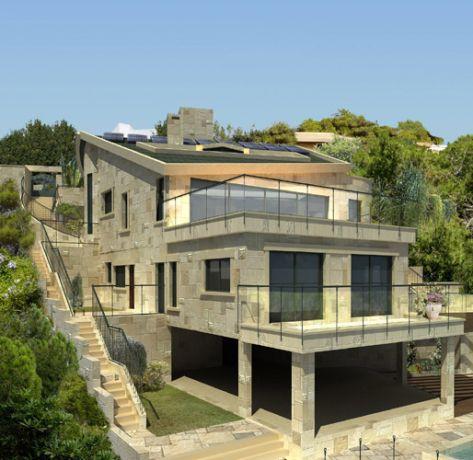 חזית אחורית בבית פרטי בדניה חיפה