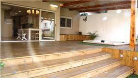 חיפוי דק בחצר בית פרטי, עיצוב mind אדריכלים