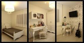 חדר נוער מעוצב בסגנון קלאסי ובצבעוניות בהירה ונקייה. עיצוב: mind אדריכלים