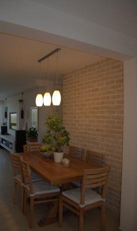 פינת אוכל ומטבח, בעיצוב כפרי של גלית אשמן  אדריכלות פנים
