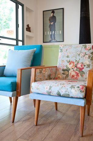 כורסאות וינטג' משופצות, עיצוב מעשה בבית-בוטיק ביתי לאדריכלות ועיצוב פנים