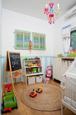 חדר ילדים בצבעים עליזים, עיצוב מעשה בבית-בוטיק ביתי לאדריכלות ועיצוב פנים