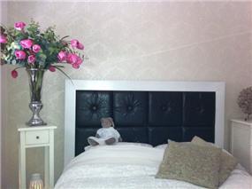 חדר שינה מעוצב ,תכנון ועיצוב שירן הוסטיילינג