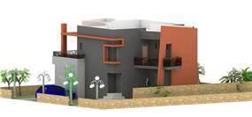 חזית בניין מגורים בתכנון מחאמיד רסלאן