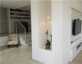 עיצוב בגבס בסלון בעיצובה של מיכל גרינברג- פוקס
