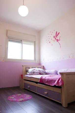 חדר ילדה ורוד עם ריצוף פרקט,KanDesign