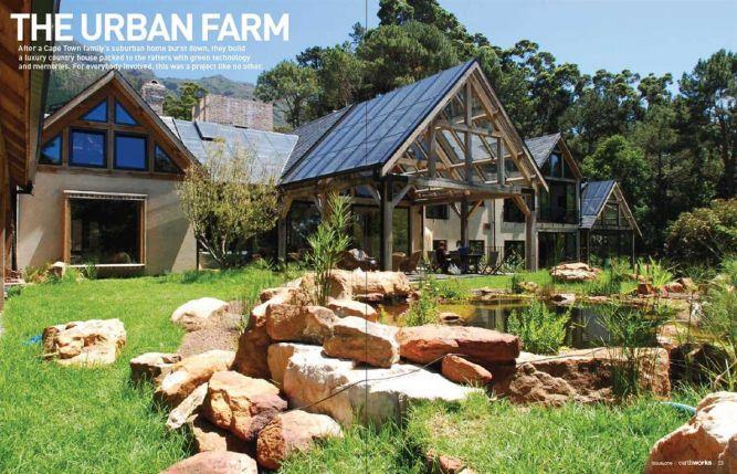 """מבט חזית ל""""בית גאיה"""" פרויקט ארכיטקטוני - אקולוגי  בקייפטאון - ריפלנט"""