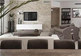 דירת גן בק.אונו, סגנון מודרני עם נגיעות כפריות. מבט מפינת האוכל לסלון בעיצוב ותכנון של הילה לוסקי