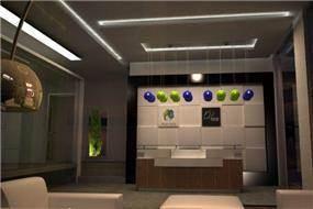 הדמיה-משרד מכירות לחברת בנייה -מבנה יביל. תכנון: חיה ברק