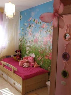 חדר בנות מעוצב עם נגיעות קסומות בתכנון ועיצוב של בליץ דיזיין
