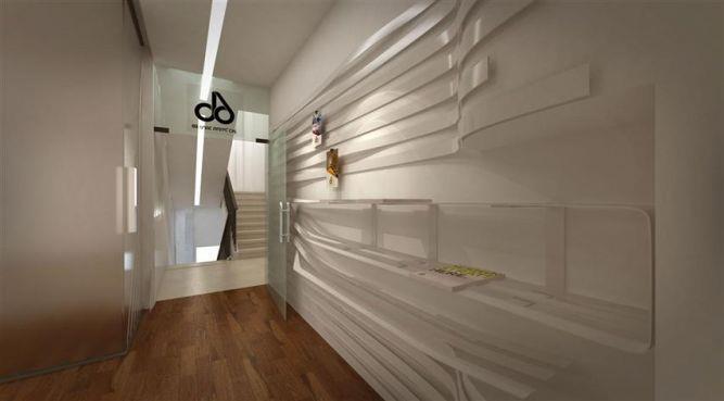עמדת המידע בסטודיו 6B. עיצוב של דלית לילינטל