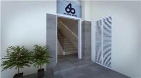 כניסה מעוצבת לבניין ציבורי סטודיו 6B בעיצוב ותכנון דלית לילינטל
