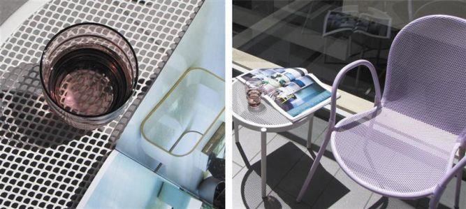 תקריב לפריטים המרהטים את המרפסת בעיצוב ותכנון של דלית לילינטל