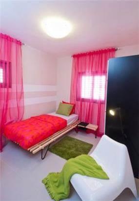חדר ילדים מקסים בצבעים משלימים בעיצוב ותכנון של a&e design