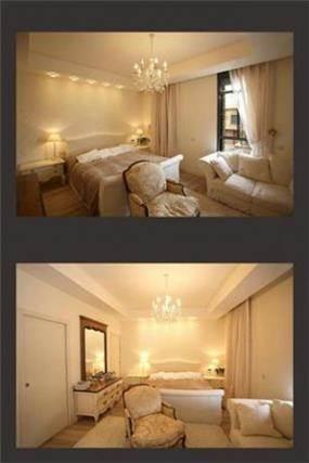 חדר שינה רומנטי-קלאסי בגווני לבן בעיצוב ותכנון של A&E Design