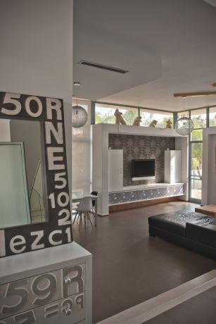 זווית לסלון בית בסגנון מודרני בעיצוב של ארכידרום אדריכלים