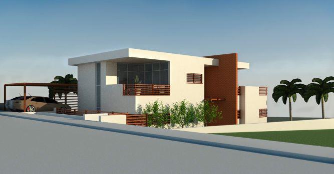 הדמיית בית במושב לבנים. תכנון: GGAD Studio