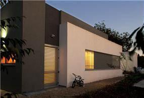 חזית בית רקע בעיצוב מודרני