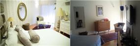 השבחת נכסים - מבט על חדר השינה לפני ואחריי