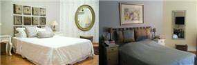 השבחת נכסים - חדר שינה לפני אחרי בעיצוב של ג'ני דיין