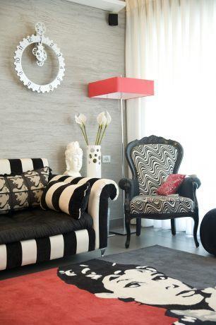 פינת ישיבה מעוצבת בסלון