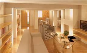 תכנון קונספטואלי לדירה בתכנון In Designs