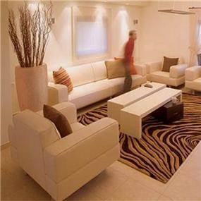 דירת מגורים מבט אל הסלון המעוצב