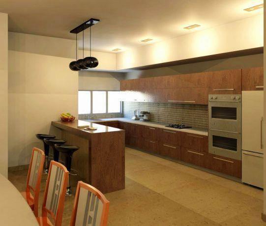 מבט אל מטבח מעוצב בתכנון InDesigns studio