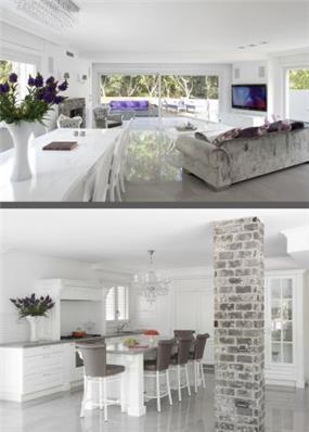 עיצובי מטבח וסלון בסגנון מודרני עכשווי ומיוחד, הכוללים ריהוט ייחודי ומעניין. HM מושיק חדידה-אדריכלות ועיצוב פנים