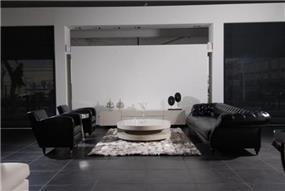 סלון שחור יוקרתי בעיצוב גלריית אוקנין