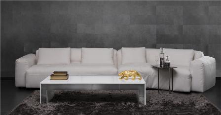 ספה לבנה ומרשימה מבית גלריית אוקנין