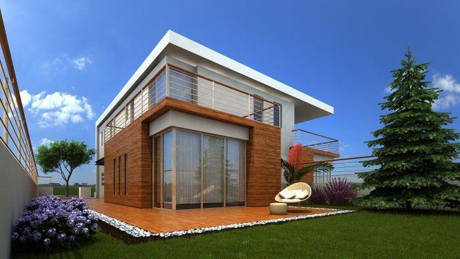 modern wood house - פזית חזיז