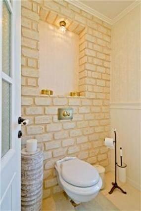 חדר שירותים בבית בשרון בעיצוב שירלי דן