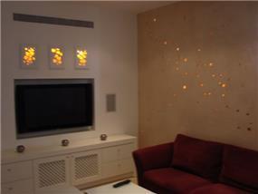 עיצוב סלון ומשחקי תאורה - סטדיו פופה
