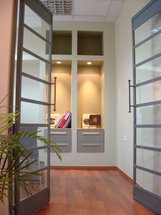 עיצוב נישת אכסון מגבס במשרד - אבי שטרנפלד אדריכלים