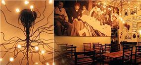 עיצוב תאורה ואווירה חמימה במסעדה, תל אביב - אורנה גבעון - אדריכלות ועיצוב פנים