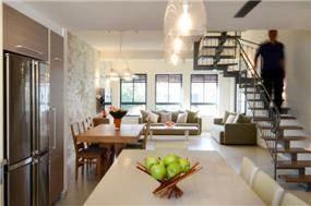 סלון ופינת אוכל, עיצוב: Gilad Interior Design