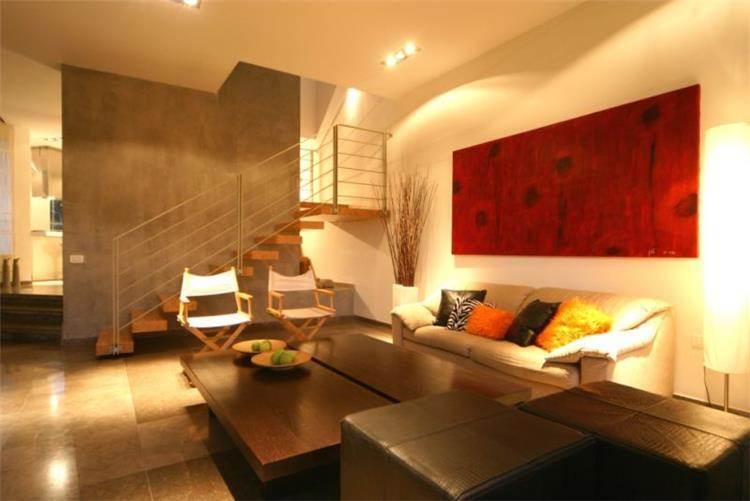 סלון בעיצוב חמים - דנה רצון-ערן גלן, סטודיו לאדריכלות ועיצוב פנים
