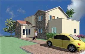 הדמיה של בית פרטי - ליעד אדריכלים