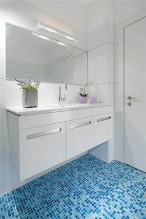 חדר אמבטיה באזורי חן -עיצוב ליאת הראל