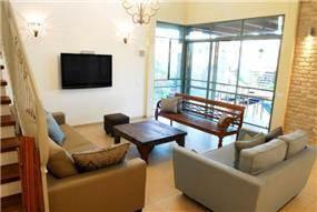 סלון בבית פרטי בנירית-עיצוב ליאת הראל
