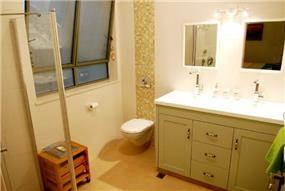 חדר אמבטיה בבית בנירית-עיצוב ליאת הראל