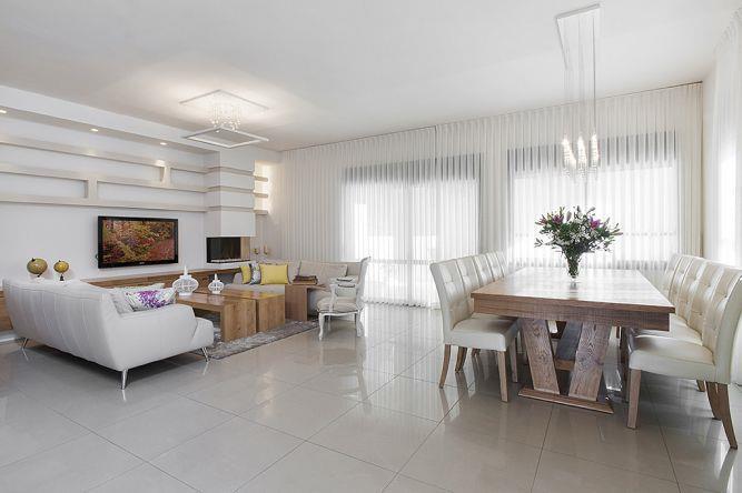 חדר מגורים בתל מונד - עיצוב ליאת הראל